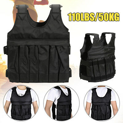 Weight Weighted Vest Adjustable110LBS/50KG Running Training Jacket Weight Loss