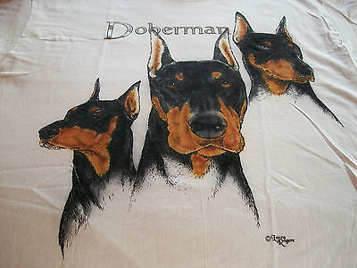 "Doberman Pinscher T- shirt  "" Natural "" Small ( 34 ~ 36 )"