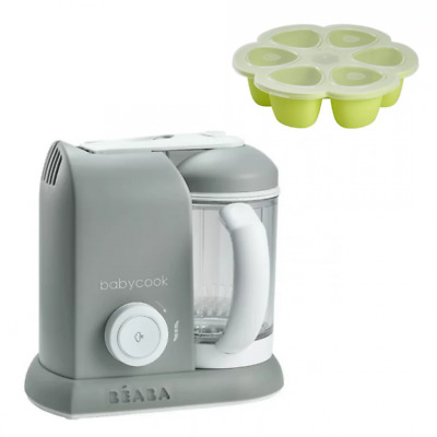 Beaba Baby-Cook 4 in 1 Baby Food Processor Steam Cook Blend - Grey