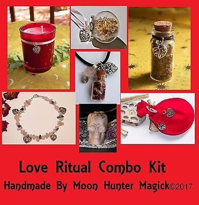 Love Magick Combo Kit Attraction Ritual Love Spell Kit Pagan