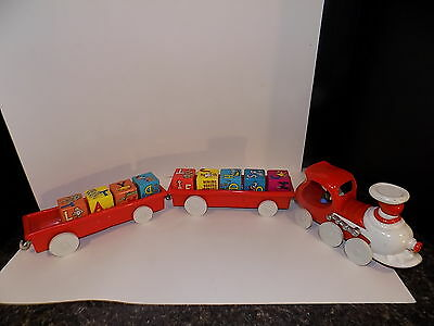 Dr. Seuss Train By Ertle RARE with blocks used