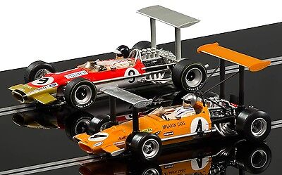 C3544A Scalextric Slot Car McLaren M7C Team Lotus Type 49 Limited Twin Pack New