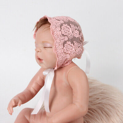 Newborn Baby Girls Photo Photography Prop Lace Floral Hat Cap Beanie Bonnet