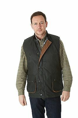 Sherwood Forest Suffolk Gilet sans manches ciré Vert Olive Taille S