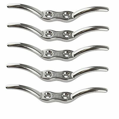 """Rope Cleat 4-1/2"""" Stainless Steel Marine Grade 5 PACK 316 Boat Washing Line DK7"""