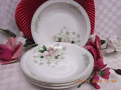 Rochelle by Grace White China, Tableware, Dinnerware, set 4 Friut/sauce Bowl