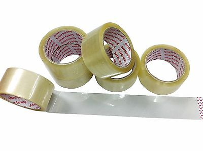 "72 X New Tape Rolls Of 2"" Clear Packaging Parcel Tapes 48Mm X 40M New Sellotape"