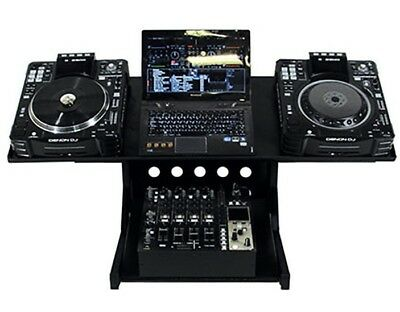 Novopro CDJ WS1 DJ Workstation for 2x CD Deck & Mixer & Laptop - Adjustable