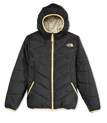 New The North Face Girl's Reversable Jacket Black Size M ( 10 - 12)