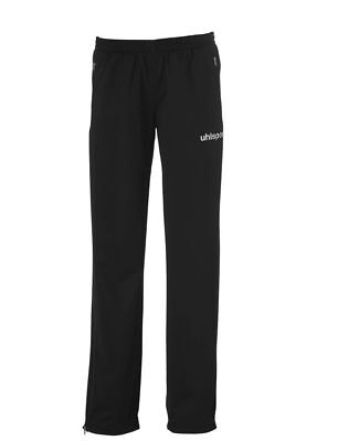 Uhlsport Womens Ladies Classic Sports Training Pants Tracksuit Bottoms Black ...