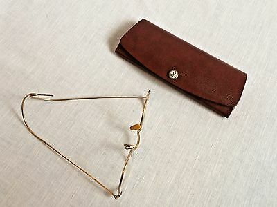 Vintage 12K Gold Filled Metal Rim Eyeglasses in Case