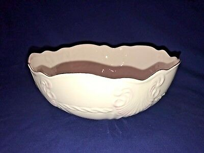 BELLEEK PORCELAIN Large Serving Bowl GEORGIAN SHELL Made in Ireland