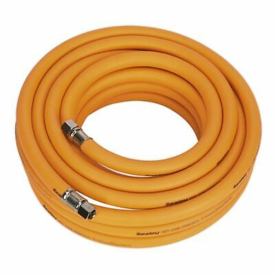 "Sealey AHHC1038 Air Hose 10mtr x Ø10mm Hybrid High Visibility 1/4""BSP Unions"