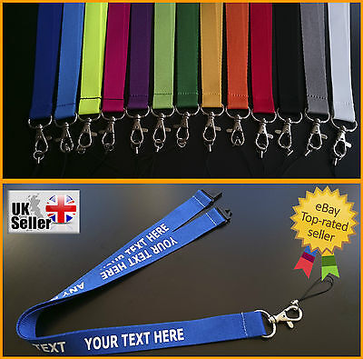 Personalised LANYARD Any Name Any Text NECK STRAP Custom print Breakaway clip