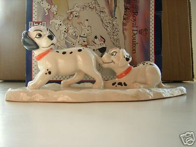 Lucky And Freckles On Ice Doulton Disney 101 Dalmations Mib