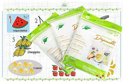 Disposable Baby Placemats Table Topper 60 Ct Stick On Mat Ideal for Children NEW