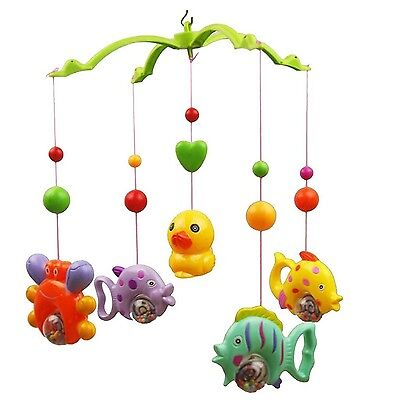 Tinksky Baby Crib Mobile Music Bed Bell Music Bed Bell Set Funny Fish Crab