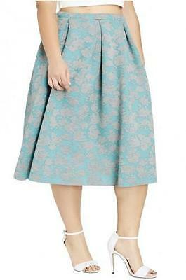fcfa089f51b PLUS SIZE MIDI Floral A-Line Full Skirt Summer Cute Casual 1X 2X 3X ...