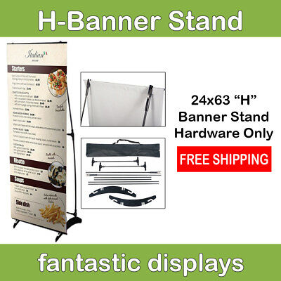 24x63 H Banner Stand for Trade Show Booth Exhibit Expo Pop Up HARDWARE ONLY