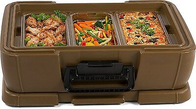 "Food Pan Carrier Insulated Delivery Top Loading 4"" Catering Container Commercial"