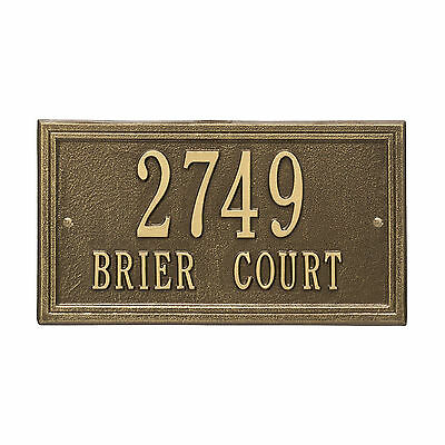 Double Line Personalized Address Plaque