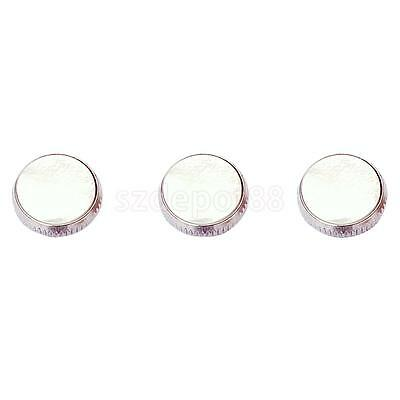 High Quality 3pcs Chrome Plated Trumpet Finger Buttons Inlay w/ White Shell