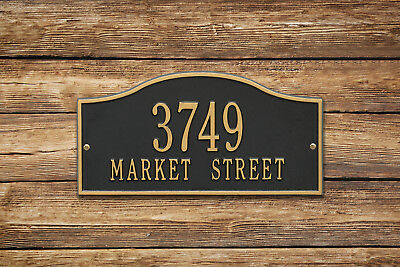 Rolling Hills Personalized Address Plaque