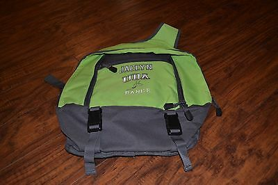 "E5- UDA Dance ""JACLYN"" Green & Gray Sling Back Back Pack"