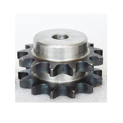 #40 Chain Drive Sprocket 15T Double Row/Strand Pitch 12.7mm 08B15T Sprocket
