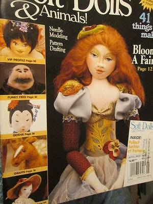 Soft Dolls & Animals April/May 2000 Magazine-Funky Fred/Giraffe/Geisha/Fairy/Chi