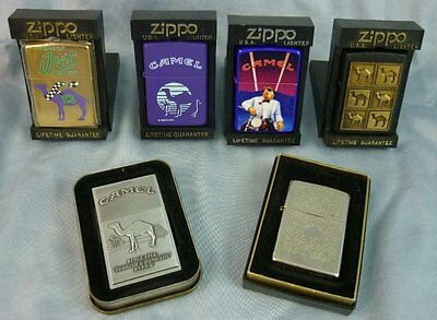 Lot of 6 Camel Joe Zippo Lighters in Box and/or Case 17C034