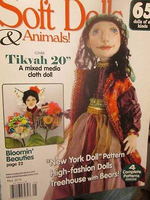 Soft Dolls & Animals May 2010 Magazine-Tikva/New York Doll (Sarah)/Bloomin'