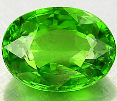 .79 Carat Attractive Oval Chrome Green Tsavorite Garnet