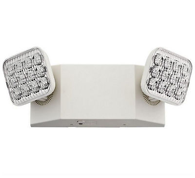 LED Wall Emergency Exit Light 2 Lights Lighting Fixture Rechargeable Battery