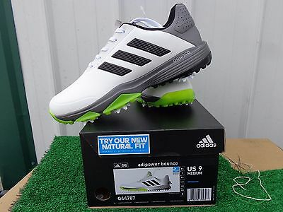 783cff5c6f7 Adidas Golf Adipower Bounce Golf Shoes White Black   Yellow US Size 9  Medium NEW