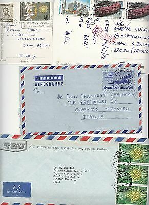 1975-1992 THAILAND lot 2 AIR MAILS PCs+2 AIR MAIL Covers to ITALY-g20