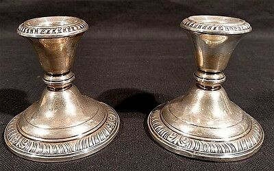 Pair of Sterling Silver Candlestick Holders Whiting & Co. Lot 73