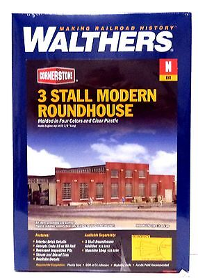 N Scale Walthers Cornerstone 933-3260 3-Stall Modern Roundhouse Kit