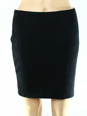 Trouve NEW Black Womens Size Medium M Ribbed Straight Pencil Skirt $58 261 DEAL
