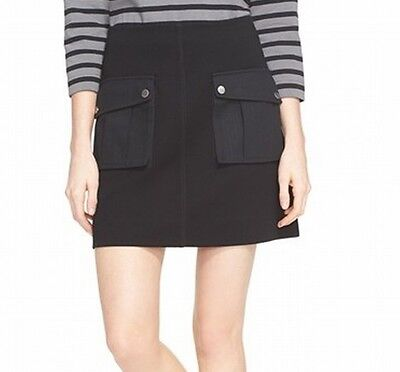 Marc by Marc Jacobs NEW Deep Black Womens Size Medium M A-Line Skirt $258 424