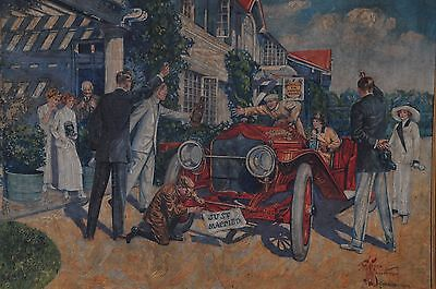 1912 Antique Harper Whiskey 'just Married' Advertisement Painted Store Sign