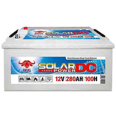 Solarbatterie 12 V 280 Ah (100h) BIG DCS Antrieb Beleuchtung Boot Versorgung