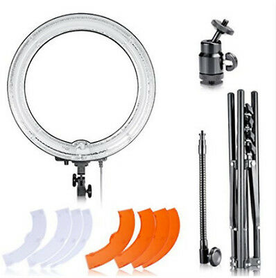 "18""Diameter 75W Camera Studio 5500K Ring Dimmable Flash Light  Kit w light stand"