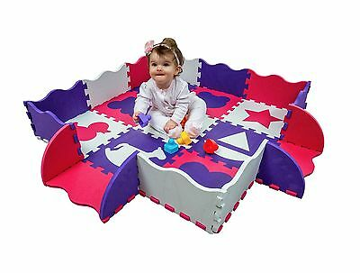 Wee Giggles Non-Toxic, Extra Thick Foam Play Mat for Tummy Time and Crawling ...