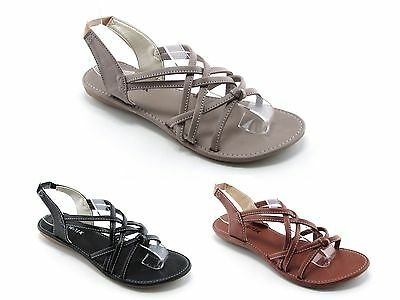 New Fashion Women Sandals Shoes Flip Flops Thong Flat Gladiator Casual T Strap