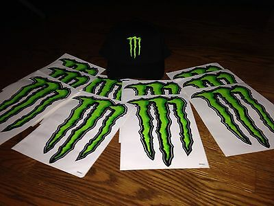 Monster Energy Hat Plus Stickers