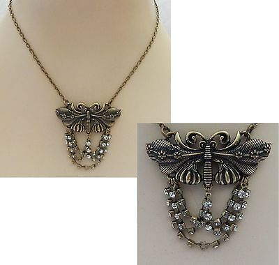 Gold Dragonfly Pendant Necklace Jewelry Handmade NEW Adjustable Fashion