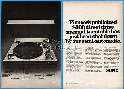 1976 Sony Stereo Turntable PS-3300 Direct Drive Photo Magazine Print Ad