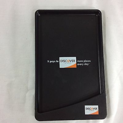 Discover Card Change Tip Tray Credit Charge Pay Coin Black Plastic Restaurant