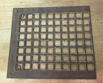 "Vintage Steel Floor Heat Grate Register Vent Cover ~ 8 x 10 "" opening Specialty"
